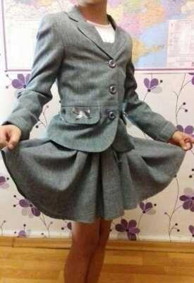 Школьная форма для девочек:пиджак+сарафан!