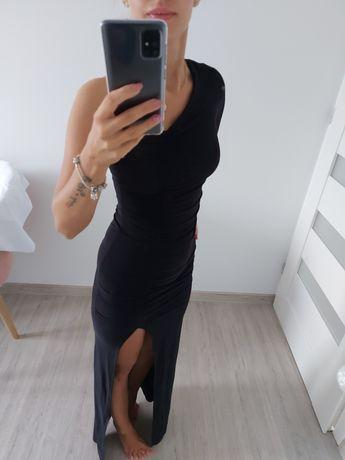 Suknia maxi czarna 34