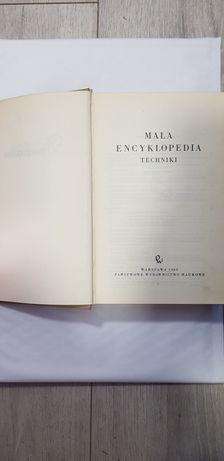 Mała encyklopedia techniki PWN