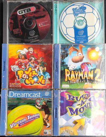 4 Jogos SEGA Dreamcast Rayman Bust a Move Virtua Tennis Virtua Striker