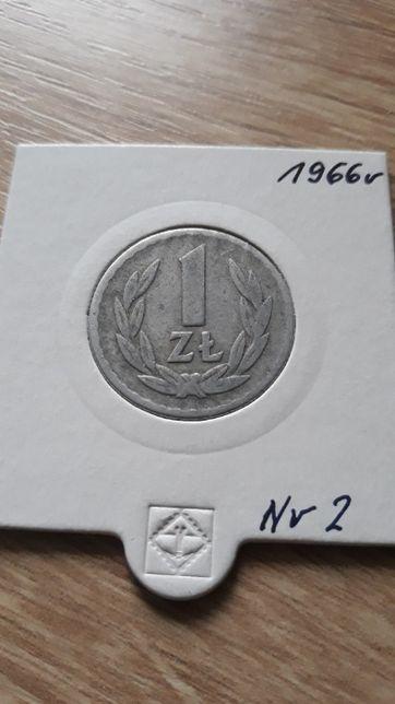 1 złoty 1966 r- PRL-Aluminium-nr 2