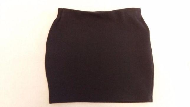 Czarna, bandażowa mini spódniczka, rozmiar s, marka Zara