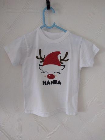 Koszulka świąteczna personalizowana Hania roz. 110