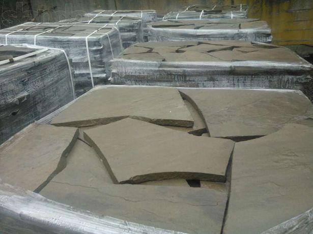 плитняк песчаник и гранитная брусчатка  на складе в Днепре