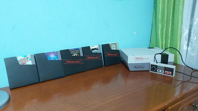 Consola Nintendo NES + 5 jogos