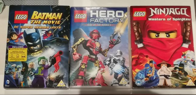 3 DVD Lego Hero Factory Ninjago Batman