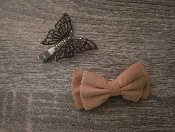 ozdoby do włosów kokardka motyl