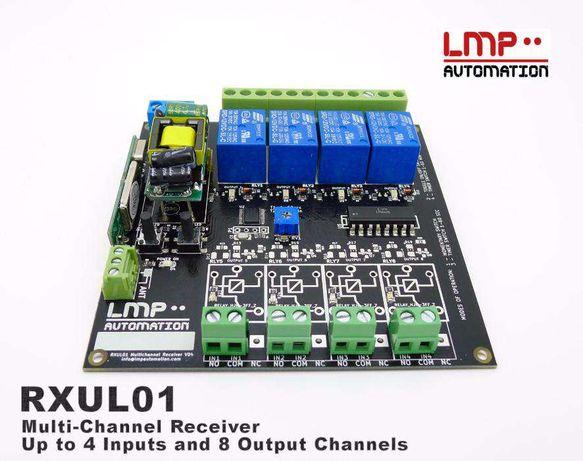 RXUL01 v2 - Receptor/controlador comandos portão, iluminação e rega