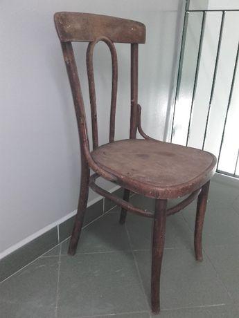 przedwojenne drewniane krzesło antyk