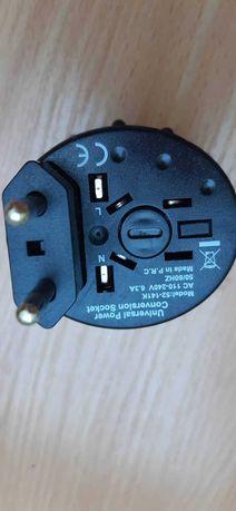 Adapter podróżny przejściówka do kontaktu US UK EUROPA