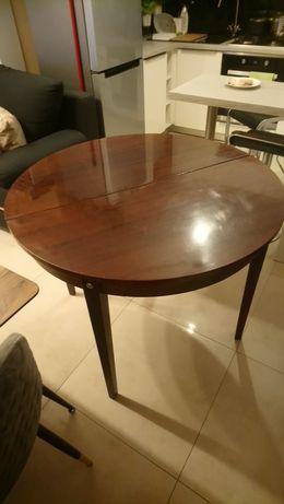 Stół okrągły drewniany PRL