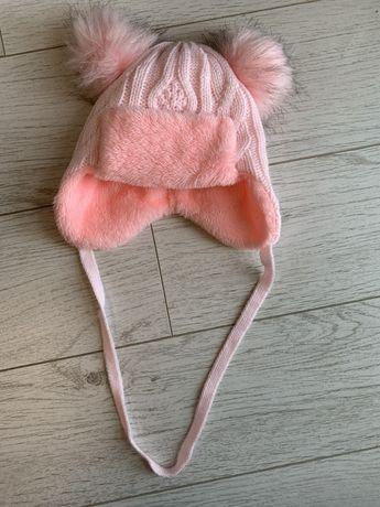 Продам зимнюю шапку на девочку, до годика. Зимняя шапка
