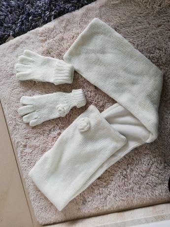 Komplet szalik plus rękawiczki