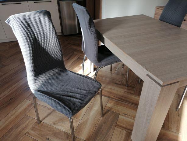 Pokrowiec na krzesło z gumką mikrofibra 4 sztuki