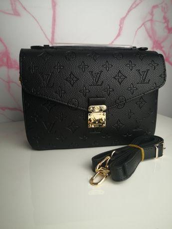Torba Louis Vuitton metis skórzana czarna logowana premium