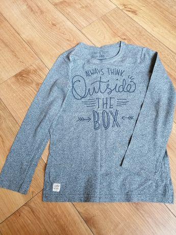 Niebieska bluza z napisem