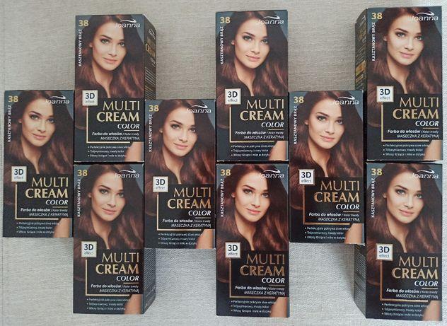 Farba do włosów Joanna Multi Cream Color 3D Kasztanowy brąz nr 38
