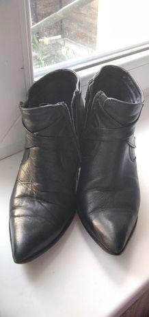 Ботинки черевики ботільйони кожаные шкіряні