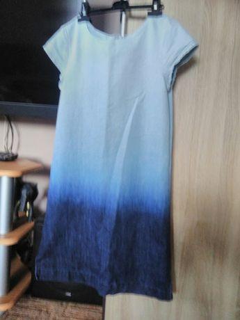 Okazja!Dżinsowa cieniowana sukienka