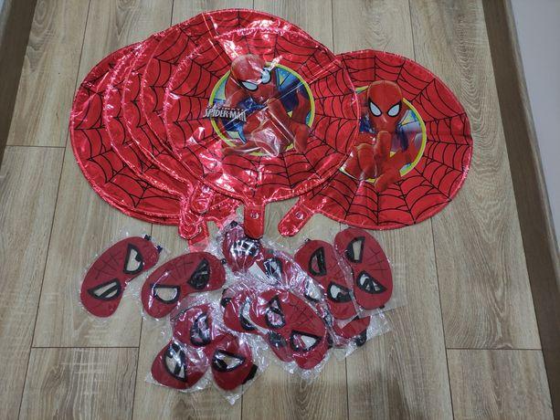 Balões e máscaras homem aranha