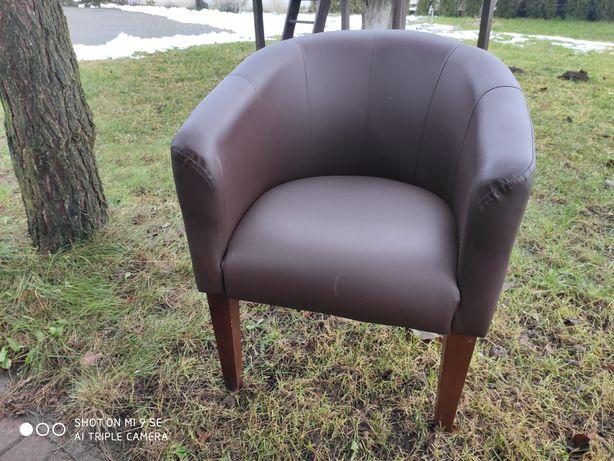 Fotel/krzesło z obiciem skórzanym