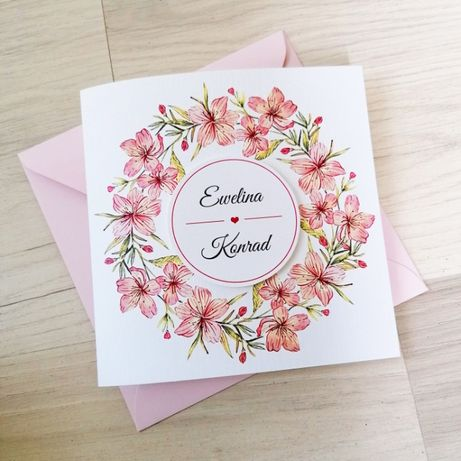 Zaproszenie na ślub WIŚNIOWY ZAGAJNIK