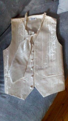 ślubna kamizelka z krawatem