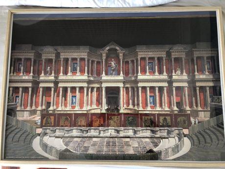 Quadro do teatro Romano de Merida