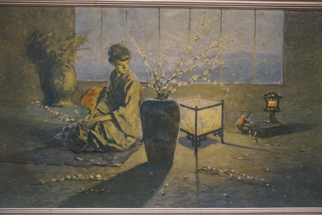 Obraz malowany na płycie malarskiej Gejsza 81 x 51 cm