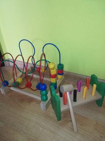 Zestaw drewnianych zabawek Ikea