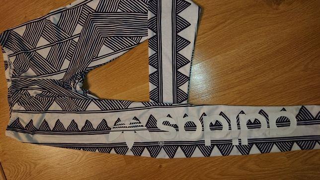 Adidas 36 -Nowe legginsy biało-czarne