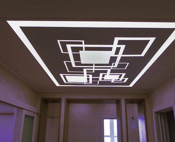 Потолочная новинка! Натяжные потолки со световыми линиями в Луганске!