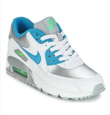 Кроссовки Nike air max 90 ltr white/silver/blue