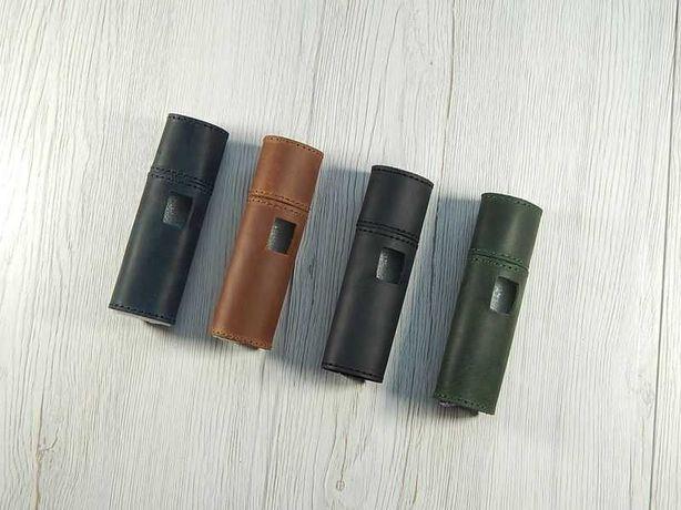 Винтажный кожаный чехол на IQOS lil solid (для Айкос Лил Солид)