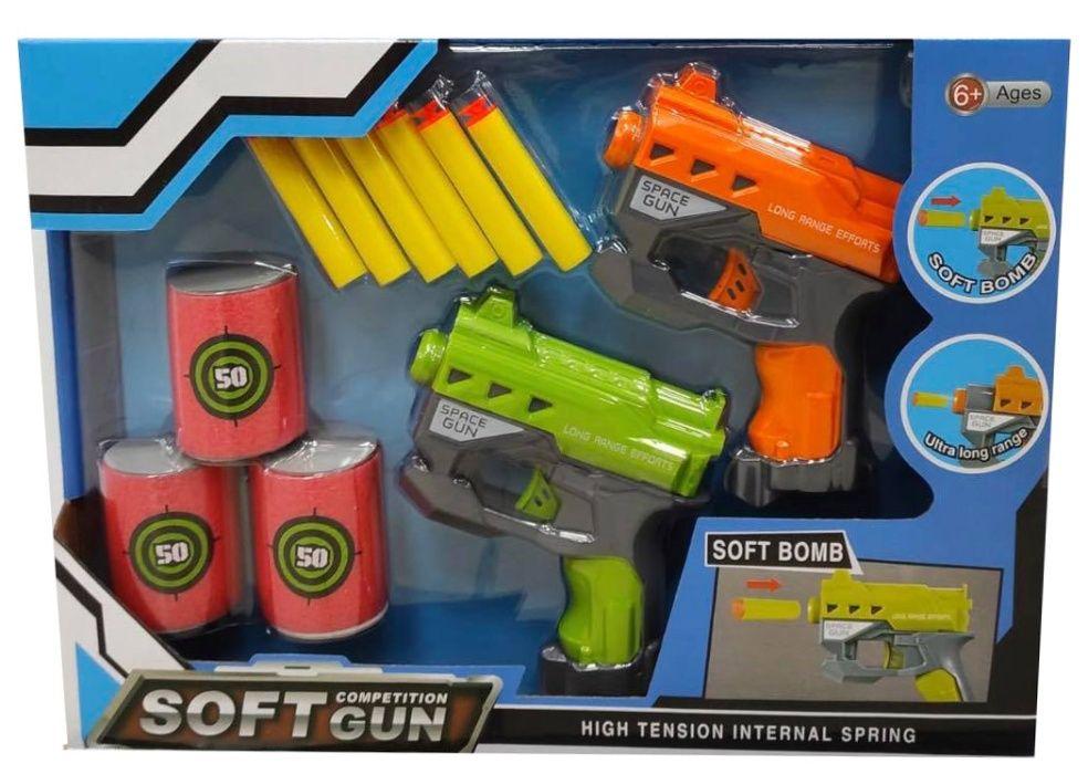 Pistolety Na Strzałki Piankowe Puszki do Celowania Zestaw Radom - image 1