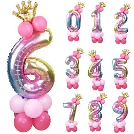 Цифра 6 бумажные цветы фотозона на день рождения