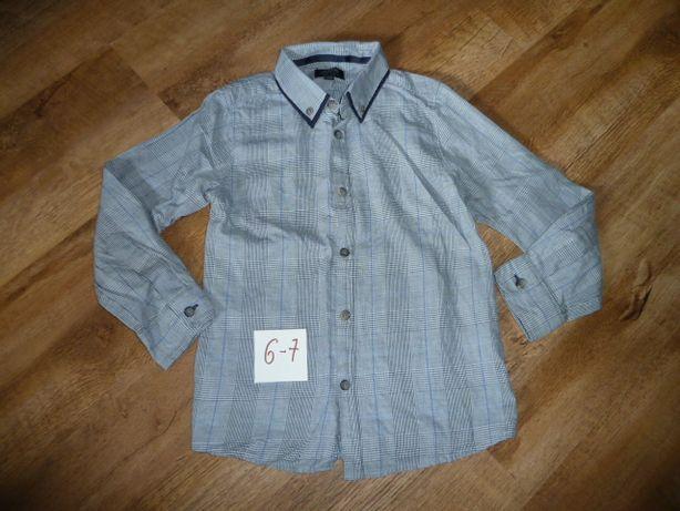 Фирменная школьная рубашка на 6-7 лет
