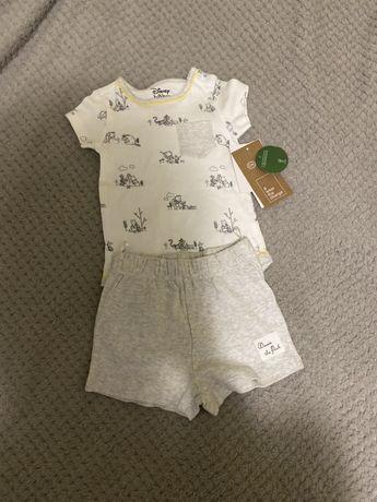 Детский костюм боди 9-12м Винни Пух Disney C&A Next H&M Zara
