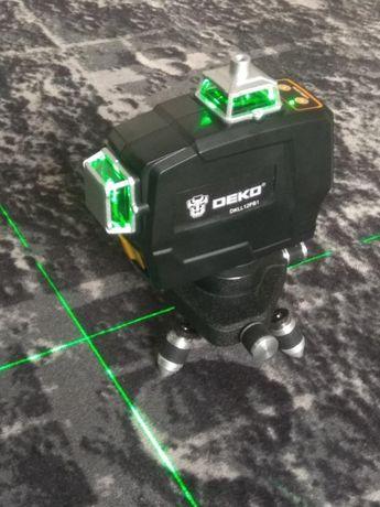 Laser krzyżowy DECO, zielona wiązka, NOWY