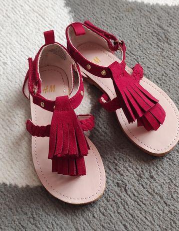Nowe sandałki H&M 25 czerwone frędzle