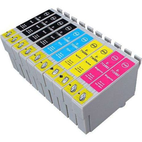 Pack 10 Tin. Compatíveis Epson reF:711/2/3/4(portes não inclui)