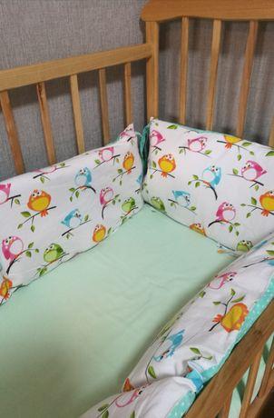 Бортики в кроватку, балдахин, детское постельное