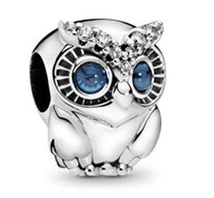 Srebrny charms DZIECKA sowa ptak do bransoletki Pandora