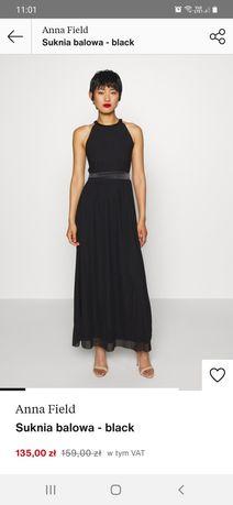 Suknia balowa czarna długa Anna Field S