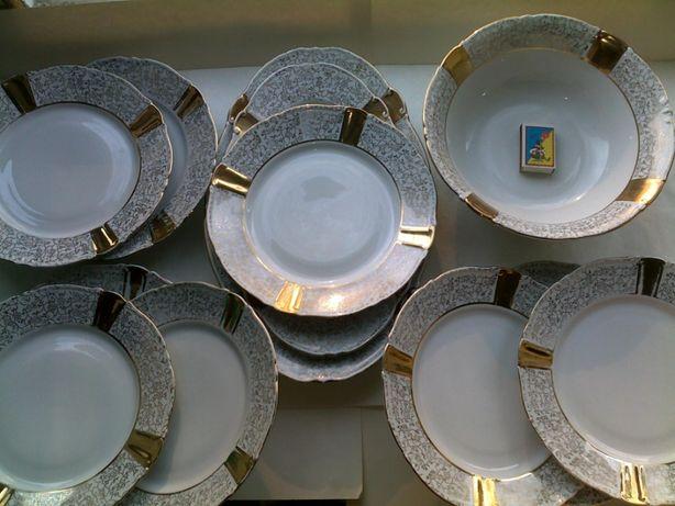 Посуда гдр - часть сервиза (тарелки, блюда) - цена за все 11 штук