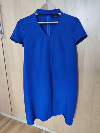 MOHITO - niebieska sukienka z chokerem [rozm. 36]