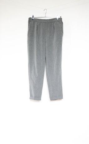Pull&Bear szare spodnie prążek joggery 40 L