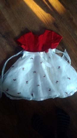 Sukienka dziewczęca 80-86