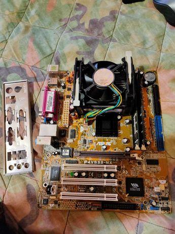Комплект  P4V533-MX/Pentium 4 2.6 GHz /2*512MB DDR400/80гиг диск IDE