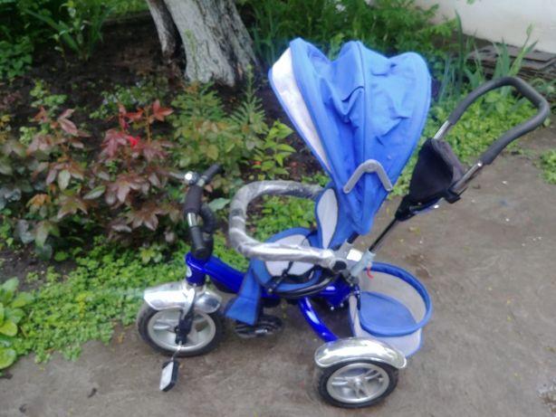 Трехколесный велосипед с родительской ручкой Детский велосипед